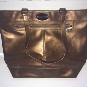 Kenneth Cole Reaction Large Tote Metallic Gold